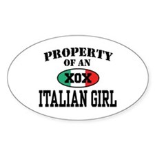 Property of an Italian Girl Oval Decal