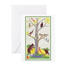 animal tree Birthday Greeting Card