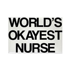 World's Okayest Nurse Rectangle Magnet