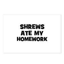 Shrews Ate My Homework Postcards (Package of 8)