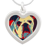 Bulldogbama Silver Heart Necklace