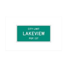 Lakeview, Texas City Limits Wall Decal