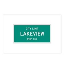 Lakeview, Texas City Limits Postcards (Package of