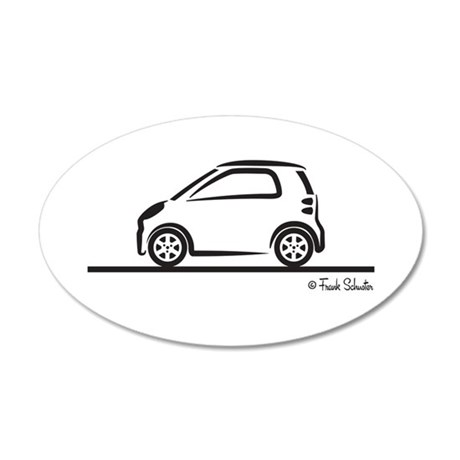 Smart Fortwo side 35x21 Oval Wall Decal