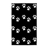 PAW PRINTS area rug dark 3'x5' Area Rug
