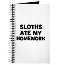 Sloths Ate My Homework Journal
