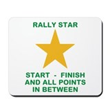Funny Rally car Mousepad