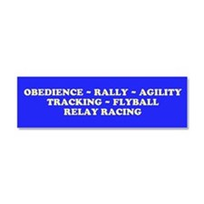 Funny Rally obedience Car Magnet 10 x 3