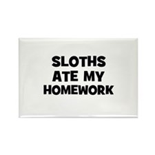 Sloths Ate My Homework Rectangle Magnet