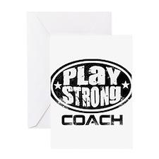 PSLogo_Tee_Coach Greeting Card