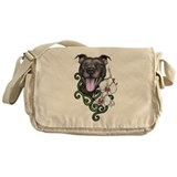Cute Pit bull Messenger Bag
