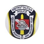 DC Metro Police Dive Team Ornament (Round)