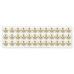 Masonic Circle 36 Cut up Stickers