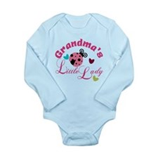Grandmas Little Lady Long Sleeve Infant Bodysuit