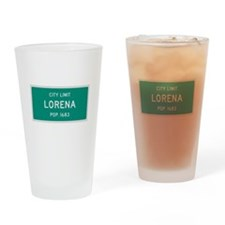 Lorena, Texas City Limits Drinking Glass