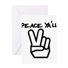 peace yall outline Greeting Card