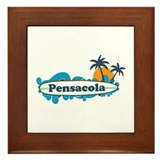 Pensacola Beach - Surf Design. Framed Tile