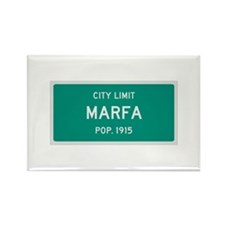 Marfa, Texas City Limits Rectangle Magnet
