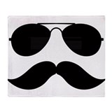 Macho Mustache Throw Blanket