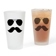 Macho Mustache Drinking Glass