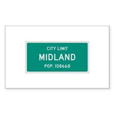 Midland, Texas City Limits Decal