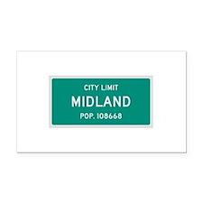 Midland, Texas City Limits Rectangle Car Magnet
