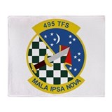 495th TFS Throw Blanket