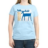 Moose Women's Pink T-Shirt