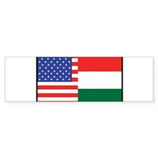 USA/Hungary Bumper Car Sticker