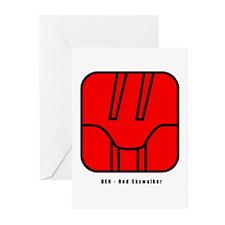 Red Skywalker Greeting Cards (Pk of 10)