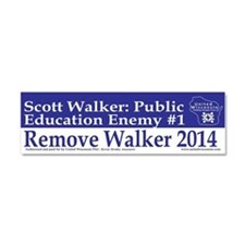 Public Education Enemy #1 Car Magnet 10 x 3