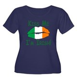 KISS ME IM IRISH! Plus Size T-Shirt