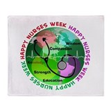 happy nurses week 2013 2 Throw Blanket
