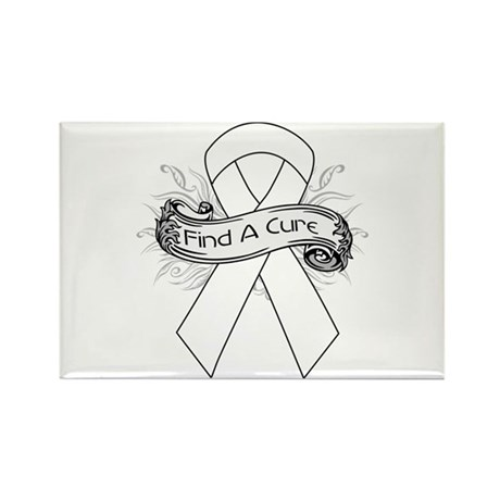Lung Cancer Find A Cure Rectangle Magnet