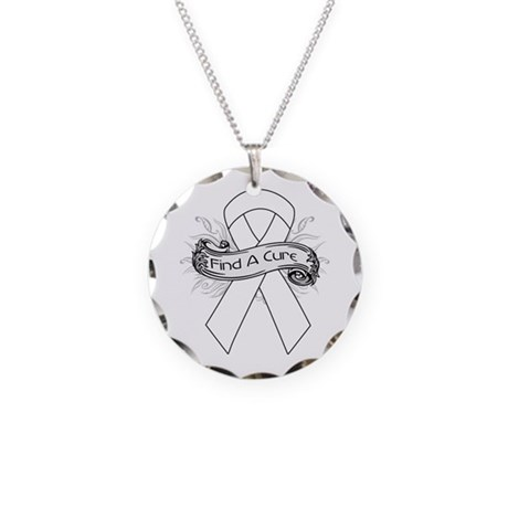 Lung Cancer Find A Cure Necklace Circle Charm
