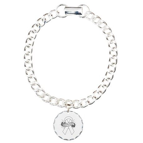 Lung Cancer Find A Cure Charm Bracelet, One Charm