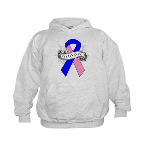 Male Breast Cancer Find A Cure Kids Hoodie