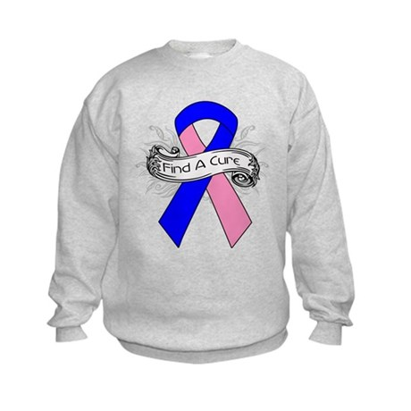 Male Breast Cancer Find A Cure Kids Sweatshirt