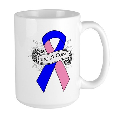 Male Breast Cancer Find A Cure Large Mug