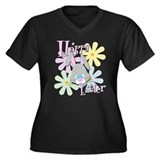 Easter Bunny and Flowers Plus Size T-Shirt