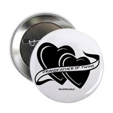 Grandfather Of Twins (hearts) Button