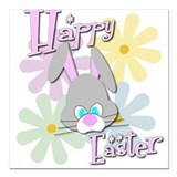 Easter Bunny and Flowers Magnet