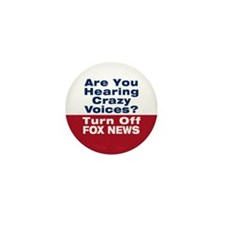 Turn Off Fox News Mini Button (10 pack)