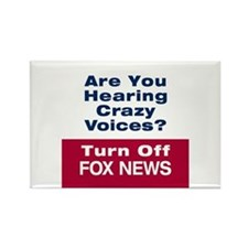 Turn Off Fox News Rectangle Magnet