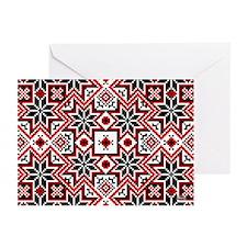 Folk Design 8 Greeting Cards (Pk of 10)