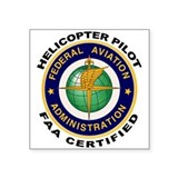 FAA Certified Helicopter Pilot Sticker