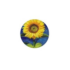Solitary Sunflower Mini Button