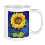 Solitary Sunflower Small Mug