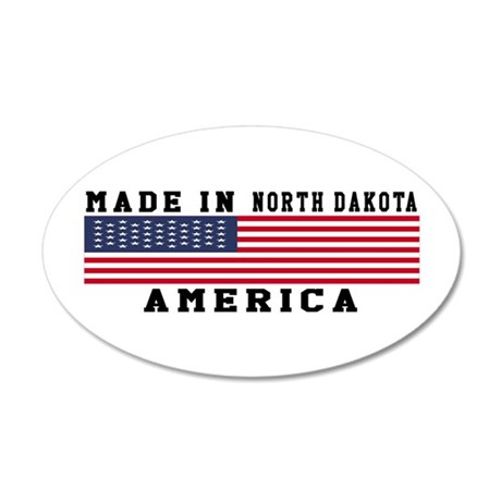Made In North Dakota 20x12 Oval Wall Decal