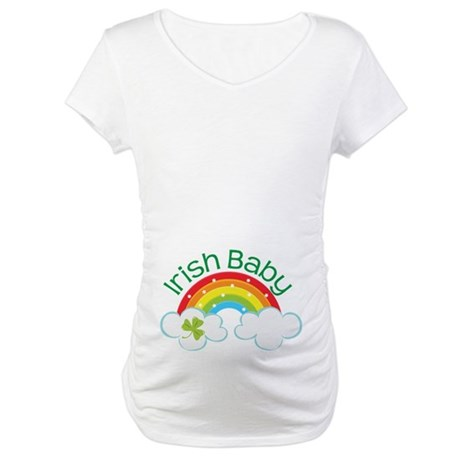 Irish Baby St Patricks Day (rainbow) Maternity T-S